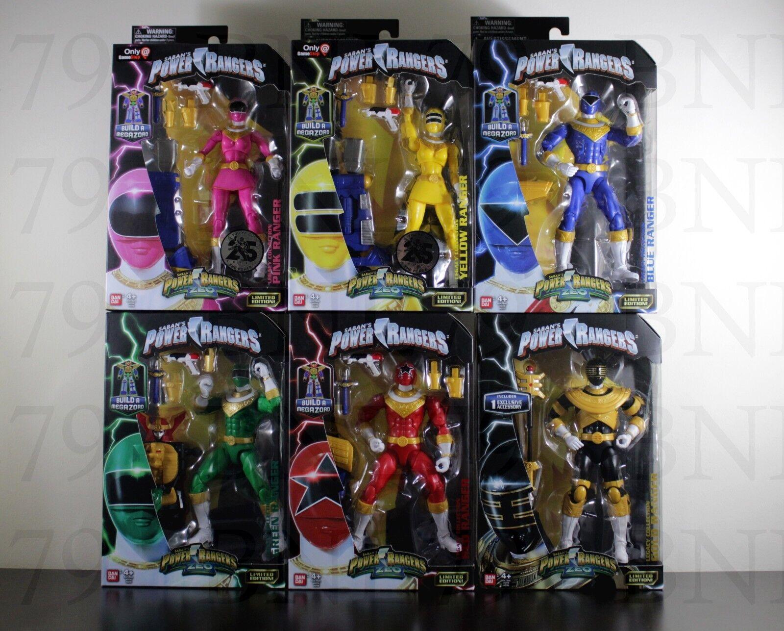 Ensemble complet 6  Power Rangers Zeo Legacy Rouge Vert Or Bleu Rose Jaune Ranger  bien vendre partout dans le monde