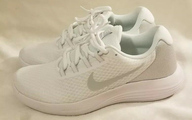 Nike LUNARCONVERGE Mens White Pure Platinum-Wolf Grey 852462-100 Running shoes