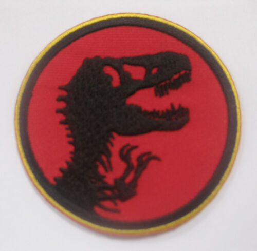 "Jurassic Park Aufnäher Aufbügler 7x7 cm 2.75/"""