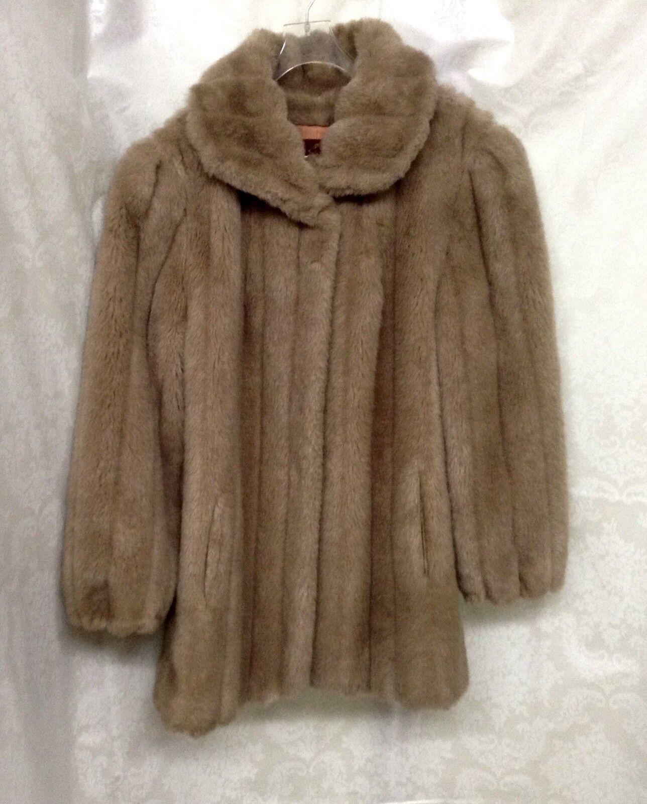 Jordache Womens Blond Faux Fur Coat