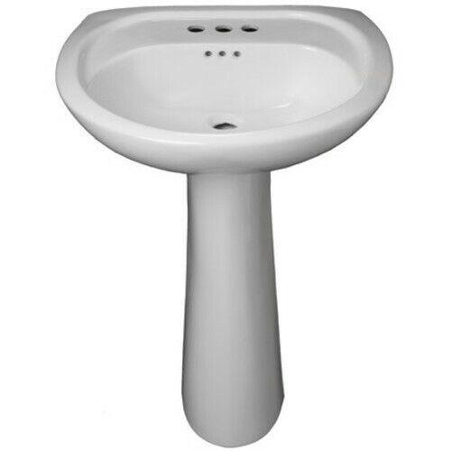 "PROFLO PF5008 Lisbon Valley 20"" Vitreous China Pedestal Bathroom - White"