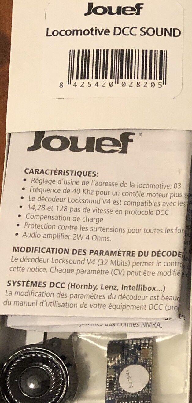 Décodeur Sound CC14000 14100 HJ2248 50 ESU LokSound V4 + HP Jouef HO SNCF  REE