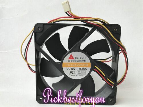 Y.S TECH FD121225HB ventilador de refrigeración DC12V 0.46A 120X120X25mm 3pin #MB26 Ql