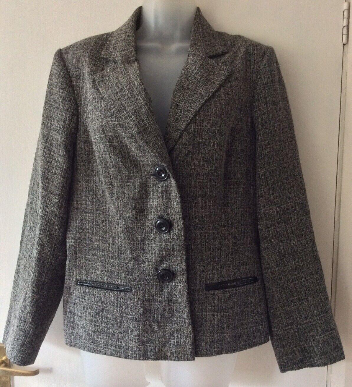 bm collection grey mix smart jacket size 18