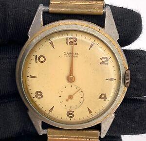 Cartel-15-Rubis-Kal-EB1332-Vintage-37-9-mm-Hand-Manuell-Nicht-Funktionstuechtig