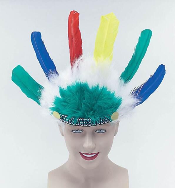 Indian Headdress Childs, Feather Headdress, Fancy Dress, Squaw/Chief