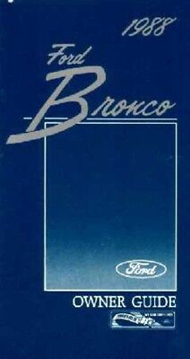 1984 Ford Bronco Owners Manual User Guide Reference Operator Book Fuses Fluids