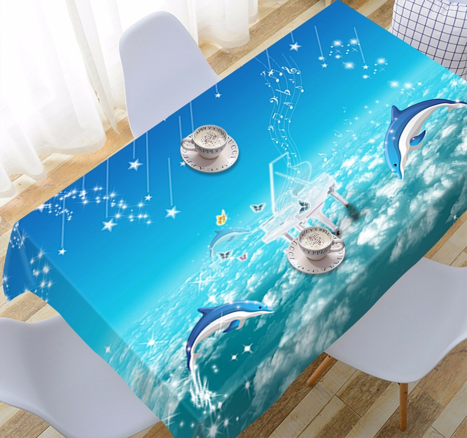 3D Dolphin 938 Tablecloth Tablecloth Tablecloth Table Cover Cloth Birthday Party Event AJ WALLPAPER UK 4a6c39