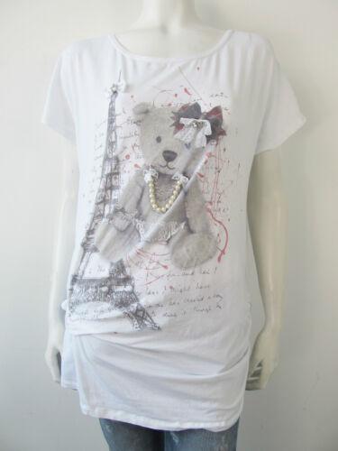 Neu You shirt 1745001 L Strass Just T Shirt Perle For Top yf76bYg