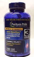 Puritan's Pride Glucosamine Chondroitin MSM 240 Caplets Free worldwide Shipping