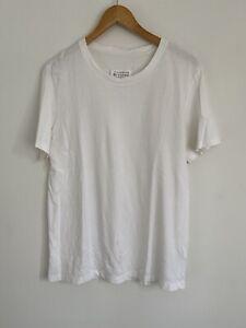 Maison Martin Margiela T-shirt Sz Med White Used Plain Condition Designer