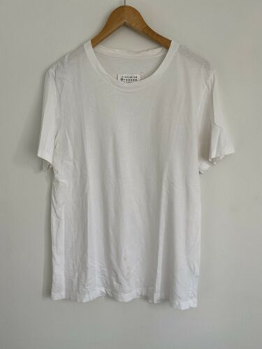 Maison Martin Margiela T-shirt Sz Med White Used P