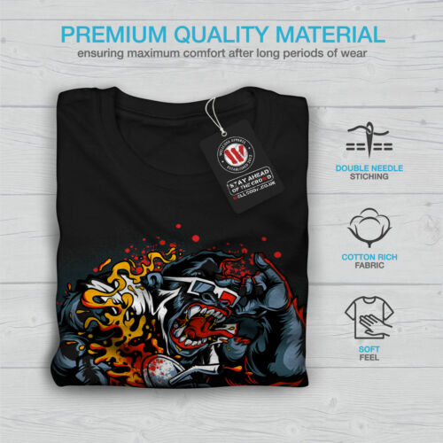 Gorilla CINEMA Animal Hommes T-shirt à manches longues Nouveauwellcoda