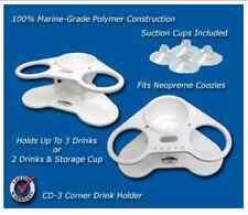 Deep Blue Marine Two Cup Holder-Corner-Storage- Boat, Pontoon, Lake, Party - CD3
