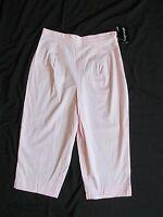 Women's Paradise Bay Light Pink Capris (cropped Pants) High Waist Size 10