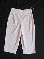 Women's Paradise Bay Light Pink Capris (cropped Pants) High Waist Size 10
