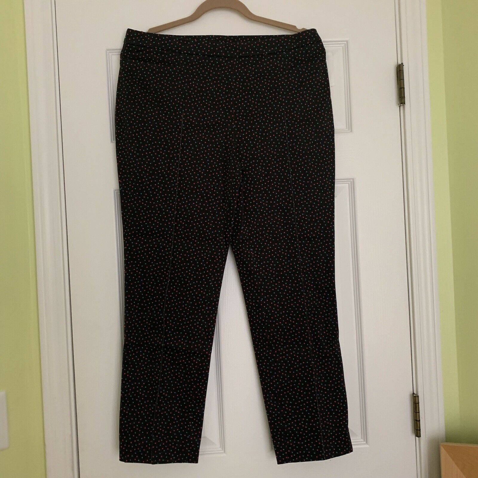 Akris Punto US 10 Casual Straight Leg Polka Dot Pants