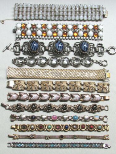 Vintage Costume Jewelry Lot BRACELET Collection So