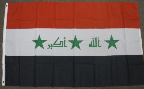 3X5 Iraq Drapeau irakien Drapeaux Moyen EAST ARAB Bannière F483
