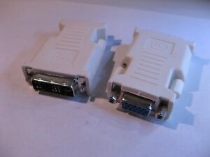 Video-DVI-Single-to-VGA-Female-Adapter-Used-Qty-2