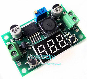 DC-to-DC-Buck-Step-Down-Converter-Module-LM2596-Voltage-Regulator-Red-Voltmeter