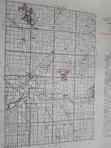 Details about 1961 KENT County MI MICHIGAN CONSERVATION DNR MAP