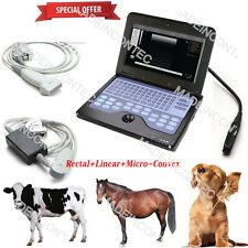 Vet Veterinary Portable Ultrasound Scanner Machine Usathree Probes Contec 600p2