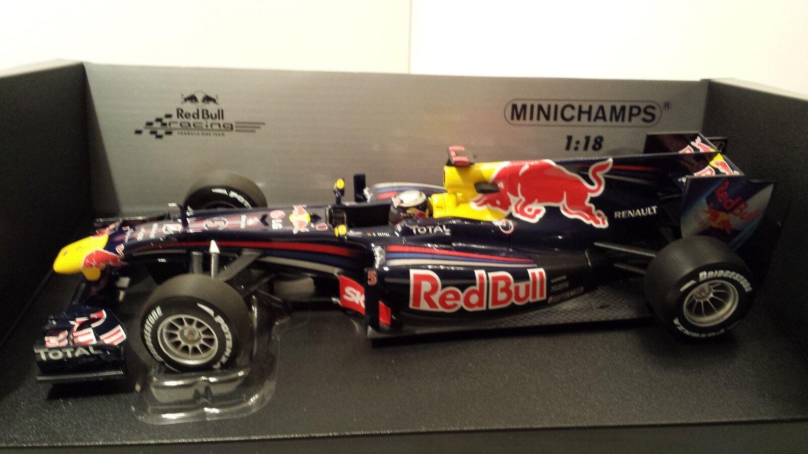 18 minichamps 2010. vettel rot bull rb6 brasilien gp - sieger f1 - auto ltd. neue