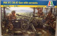 Italeri 1:35 Scale Pak 97/38 At Gun With 4 Figures Plastic Model Kit