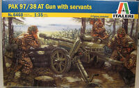 Italeri 1:35 Scale Pak 97/38 At Gun With 4 Figures Plastic Model Kit