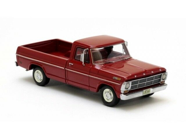 Ford F100 Pick-up rosso 1968, coches modelo 1 43