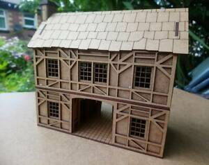 28mm-Fantasy-Tudor-Style-gatehouse-2mm-MDF-Laser-Cut-Kit