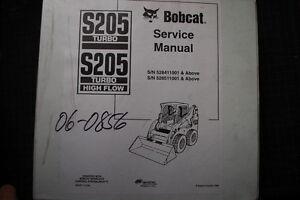 BOBCAT S205 Skid Steer Loader Service Manual 2006 repair