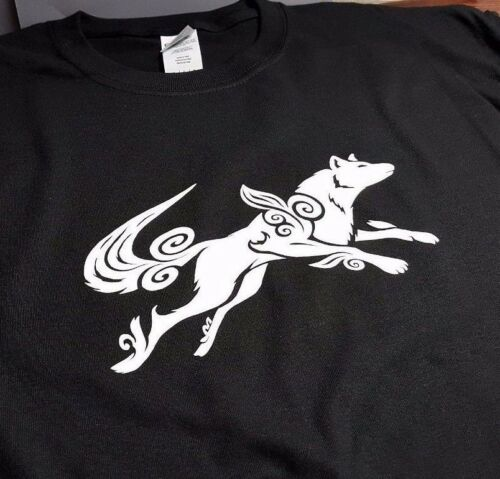 Okami Japanese Wolf Ladies Tshirt T-Shirt Tee Top