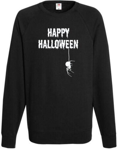 Happy Halloween Spider Sweatshirt Fancy Dress Jumper Cool Top Trick Treat Gift