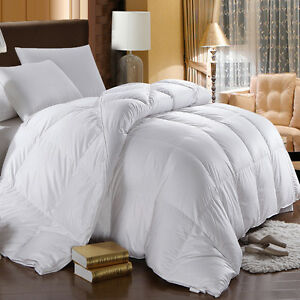 750 Fill Power White Goose Down Comforter Oversized Extra