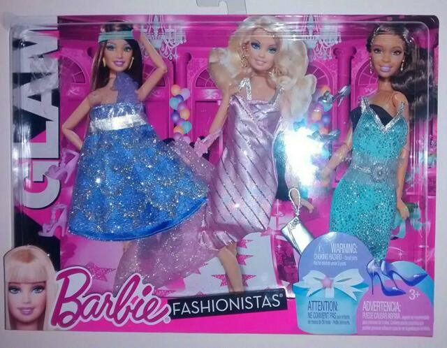 Barbie Fashionistas Night Looks -Glam Night Out Pastel Fashion / NEW (TOY-177)