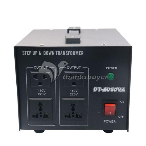 2KVA Convertisseur de tension transformateur step up//down power 220V-110V 110V-220V SZ ^^