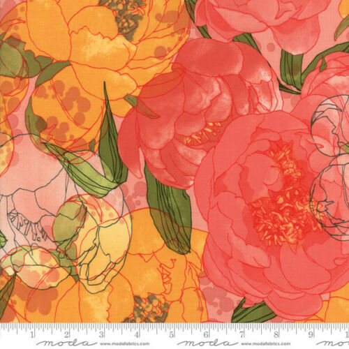 Moda Blushing Peonies by Robin Pickens Quilt Fabric