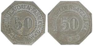 Hagen Accumulatorenfabrik 50 Peniques VF XF 54437