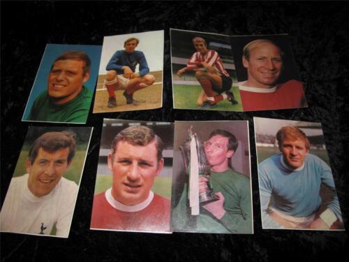 Vintage Fútbol Collector Cards grandes estrellas del fútbol asistente Comic 1970