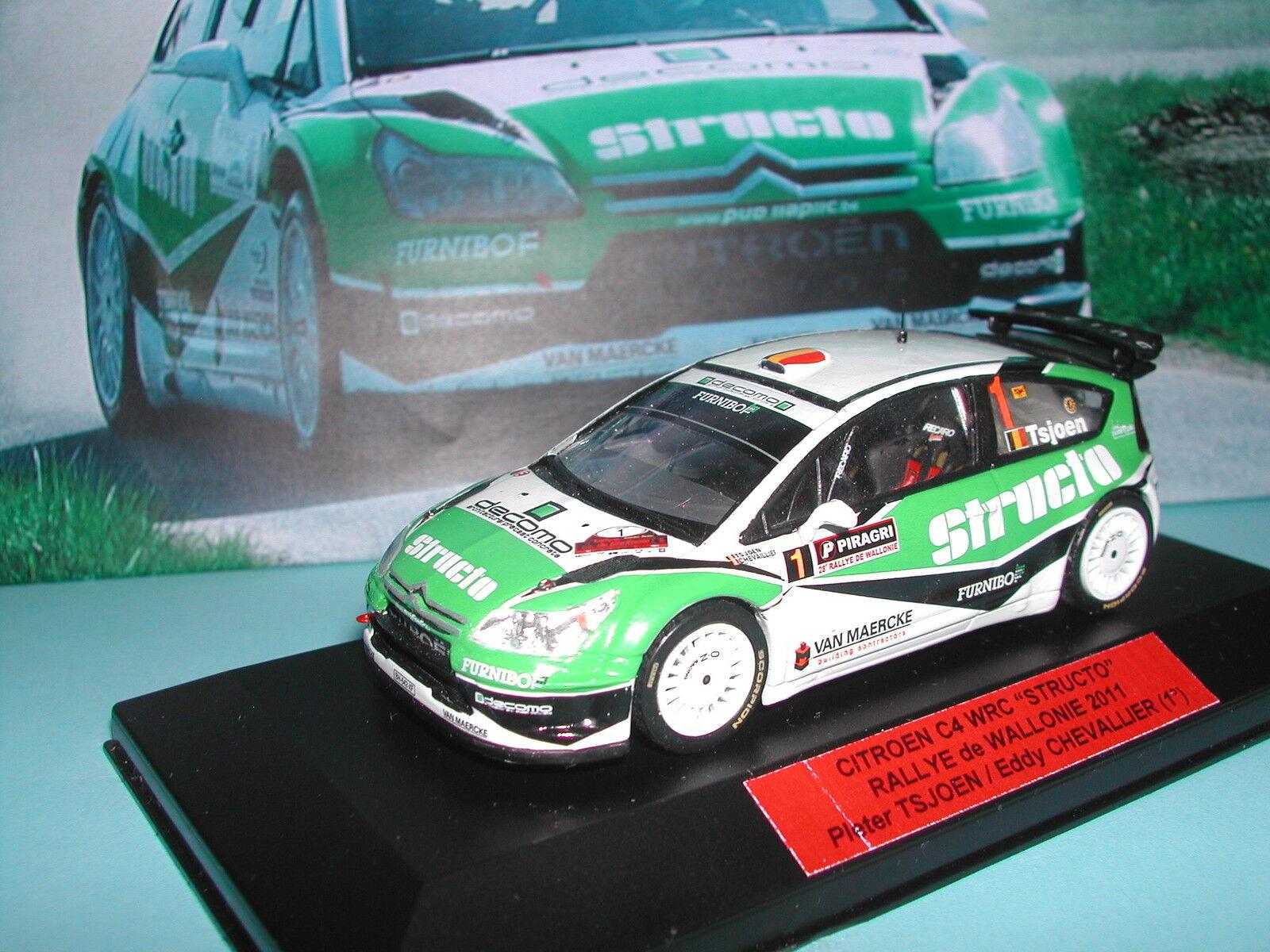 CITROEN C4 WRC TSJOEN STRUCTO WALLONIE 2011 PRO HANDBUILT IXO RENAISSANCE 1 43°