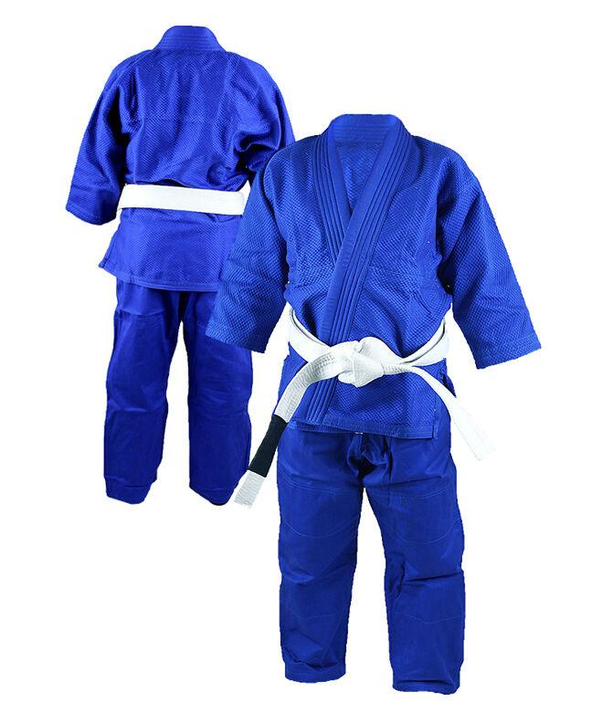 Blank Blau Kinder Jiu-Jitsu Jiu-Jitsu Jiu-Jitsu Gi Jugend Bjj  Jiu-Jitsu Gracie Tatami ShoyGoldll 02de62