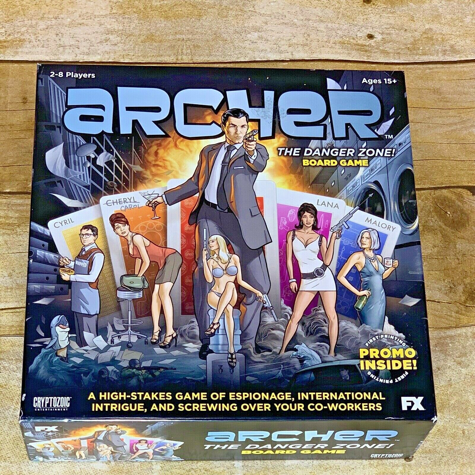 2014 Archer The Danger Zone Board Game Based On FX Animated Series Cryptozoic