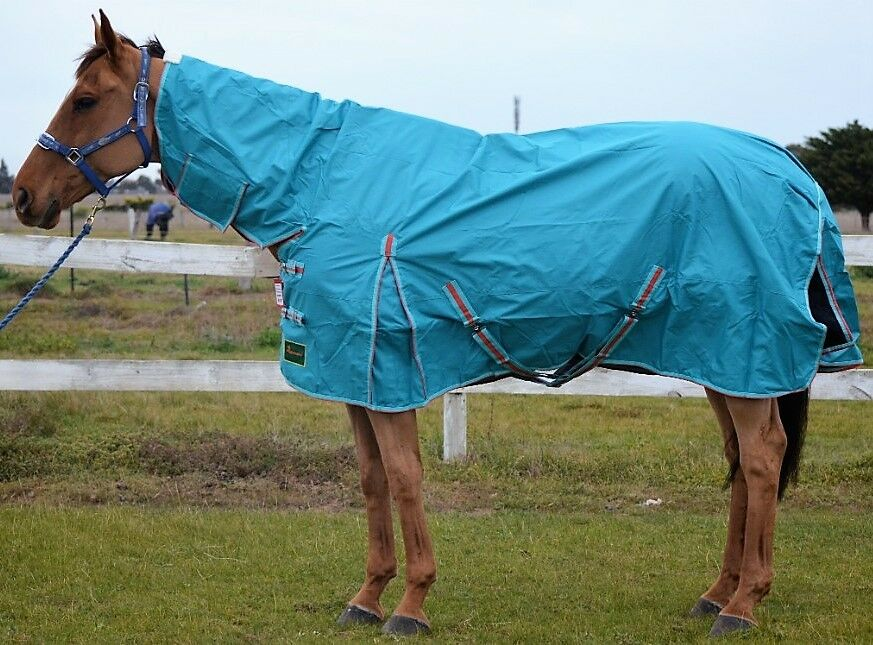 RUMANI 600D WATERPROOF RAIN SHEET   RAINSHEET Turnout Horse Rug COMBO 4'6 -7'0