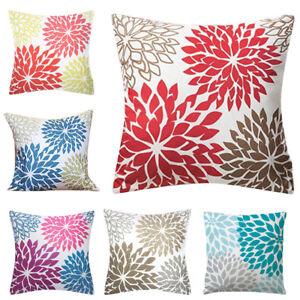 Am-45x45cm-Linen-Flower-Throw-Pillow-Case-Decorative-Waist-Cushion-Cover-Intrig