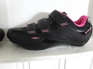 Tommaso Pista 100 Cycling Shoe Black/Pink Women-Sz- 9 - Cleat Clips Not Included