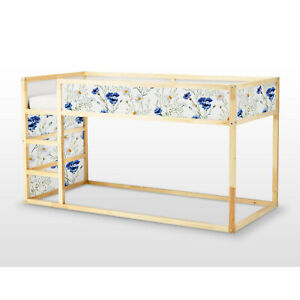 Ikea Kura Bed Removable Decal Adhesive Sticker Furniture Flowers And Camomiles Ebay