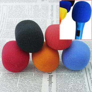5-Colors-Microphone-Windscreen-Karaoke-Wind-Shield-Pop-Filter-Mic-Cover-Foam