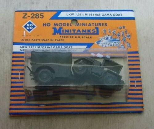Roco Minitanks Z-285 LKW 1,25 to M 561 6x6 Gama Goat Neu in OVP